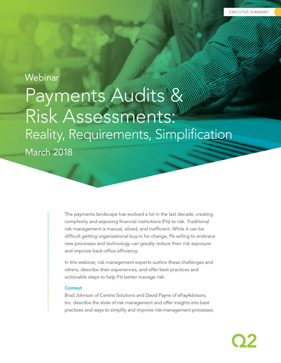 Payments Audits and Risk Assessments
